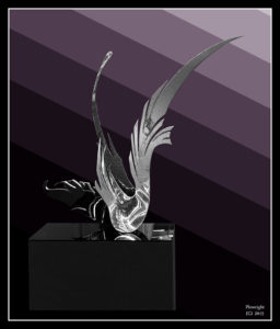 """Avian Dance"" Plate 316 stainless steel, 1.3m high x 1.1m wide x 48 cms deep"