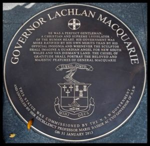 """Lachlan Macquarie"" Plaque"