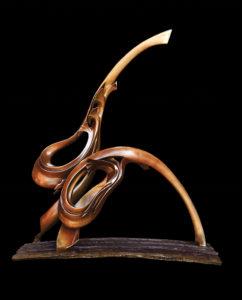 """Nature; Stillness Awakening"" Cast silicone bronze, 90cms high x 1m wide x 35cm deep"
