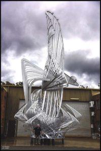 """Uniting A Nation"" 95% complete, 15 metres (50 feet) high, 5 tonnes of aluminium"