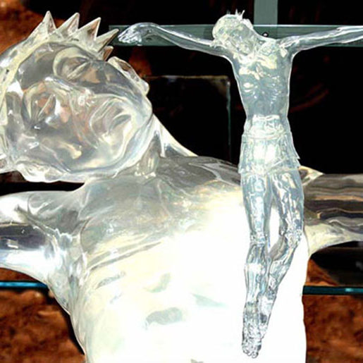 """Corpus"" Life size, water clear polyurethane. Purchased by Holy Chapel Marayong"