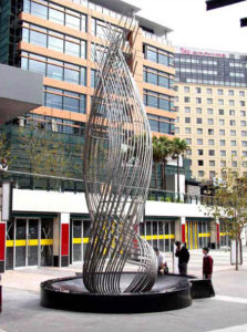 """""""Aqua-Helix"""" Stainless steel 11m high, Central Station Sculpture, Sydney"""