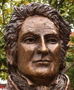 """""""Blaxland"""" Life size bust, cast bronze. Detail"""