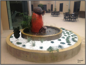 """Cabrini Water Feature"" Created for the Cabrini Centre at Westmead. The design is based on a Cabrini Centre Feature in Italy"