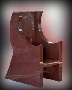 """Chair"" Solid red granite chair, Holy Family Church, Marayong, NSW"