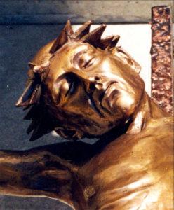 """""""Corpus"""" Life size, cast bronze. Detail"""