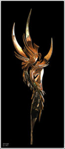 """""""Winged Splendour, Foliaged Forms; Inseparable"""" 1.3m high cast stainless steel maquette for potential sculpture 7m to 15m in high and cast in stainless steel"""