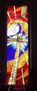 """BIRTH"" 1st of 12 window designs, Gordon Uniting Church, Gordon NSW"