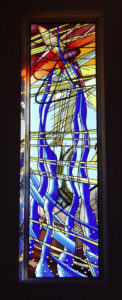 """FROM CHAOS, ORDER"" 2nd of 12 window designs, Gordon Uniting Church, Gordon NSW"