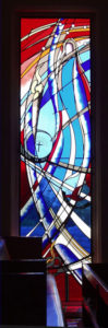 """UNITED DEDICATION TO ALL WOMEN"" 7th of 12 window designs, Gordon Uniting Church, Gordon NSW"