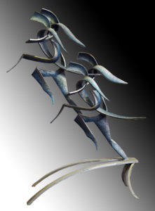 """Rhythm in Motion"" Cast aluminum, 2.2 metres high"