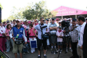 """Stan McCabe Unveiling"" Camera crew at the unveiling in front of the Members stand SCG, Sydney"