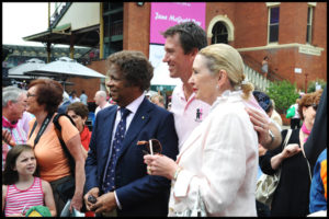 """Guests"" Amoung the guests where Kamahl, Glenn McGrath shown here with Clare Sellers"