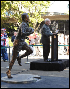 """Reg Gasnier Sculpture"" Terrance Plowright speaking at the unveiling"