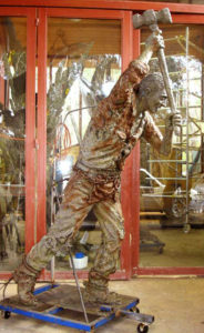 "Second ""Convict"" 3 metres high just welded together in bronze"