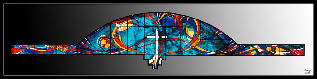 Stained Glass, 15 Metres W x 4 Metres H, Uniting Church, Galston