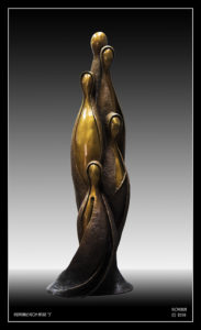 """Inseparable From Nature"" 5, Cast bronze, 1 metre high. This work is born from a continuation of my ""Inseparable From Nature"" series, a series I began back in 1989"