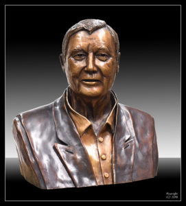 Larger than Life-size bronze bust of philanthropist, Basil Sellers AM