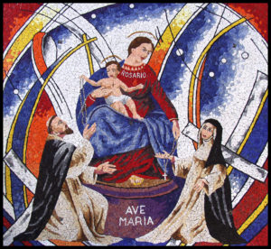 """AVE MARIA"" Italian glazed mosaics, 2m by 1.7m, St. Johns Church, Mt. Druitt"
