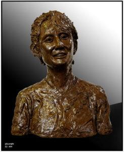 """""""Aung San Suu Kyi"""" Life size clay bust"""
