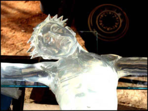 """""""Corpus"""" Life size, water clear polyurethane. Purchased by Holy Chapel Marayong"""