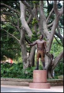 """""""Lachlan Macquarie"""" Sculpture 1 1/2 Life size cast bronze. Hyde Park, Sydney, near St James Station facing Macquarie St"""