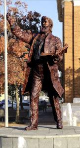 """""""Sir Henry Parkes Sculpture"""" Cast bronze, 3m high, Parkes NSW"""