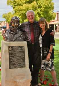 Terrance And Shirley Plowright at the Unveiling