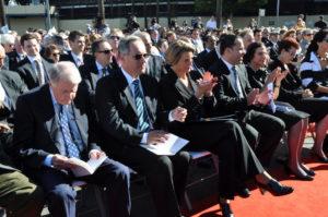 "Unveiling of ""Life from a Suitcase"" Premier Neville Wran, Premier Morris Iemma, Premier Kristina Keneally, & Paul Signorelli & Governor of NSW Professor Marie Bashir"