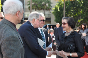 """Governor of NSW Professor Marie Bashir acknowledging Premier Neville Wran at """"Life from a Suitcase"""" unveiling"""