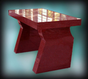"""""""Altar"""" Solid red granite altar, Holy Family Church, Marayong, NSW"""