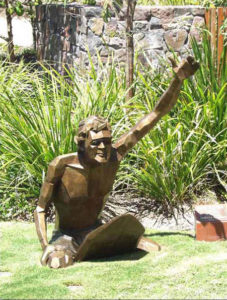 """""""Surfer Series"""" Surfer, life size cast bronze, Twin Waters, Maroochydore"""