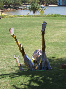 """""""Surfer Series"""" 'Wipeout', life size cast bronze, Twin Waters, Maroochydore"""