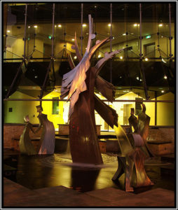 """Emergence"" At night. Newcastle Permanent Building Society"