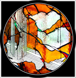 """""""Gladstone Window"""" Stained glass, Private Collection, 1.2 Metres"""