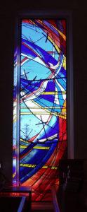 """UNITING SYMBOLS"" 6th of 12 window designs, Gordon Uniting Church, Gordon NSW"