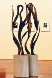 """Inseparable Series 1"" Cast bronze, 2.2m high, 450kgs. Terrance Plowright's first sculpture"