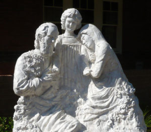 """""""Holy Family"""" ¾ Life size, cast in marble/resin, Marrickville NSW"""