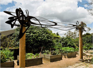 """""""Music for the Eyes"""" 5 metres long and 3 metres high. Made from steel"""