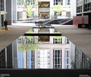 """Mirrored Stillness, Dancing Streams"" Deutsche Bank Building Fountain, 50m length, Zen Mode (still-waterwall) Phillip St. Sydney"