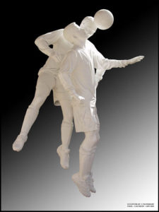"""""""Soccer Players"""" Cast resin, life size, Mt Pritchard Community Club, NSW"""