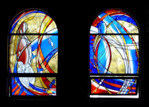 """""""Stained Glass"""" 1 of 12 ground floor stained glass windows, 2.4 metres high, St. Johns Church, Mt. Druitt"""