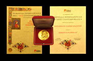 """Medici Medal"" Received for artistic contribution to the Florence Biennale 2013"