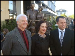 """""""Life from a Suitcase"""" Terrance Plowright, Governor of NSW Professor Marie Bashir and Paul Signorelli"""