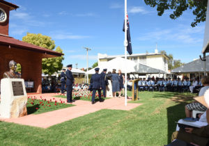 Air Marshal Sir George Jones, Being Unveiled by Air Marshal Leo Davies and Jones's descendants