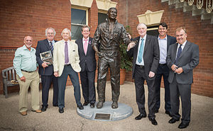 """Bronzed"" Book Launch; left to right Ken Catchpole, Rodney Cavalier, Richie Benaud, Premier Barry O'Farrell, Basil Sellers, Paul Roos & Geoff Armstrong"