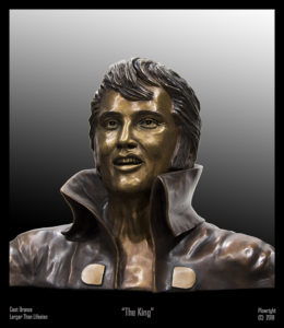 """""""The King"""" Cast bronze, slightly larger than life-size"""